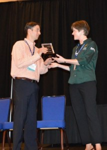 Jonathan Sharr receives the HFMA Region 1 Conference Poster Competition Gold Winner award for his project on migrating financial reporting to a Cloud based platform.